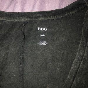 BDG Tops - BDG Acid Wash Black V Neck
